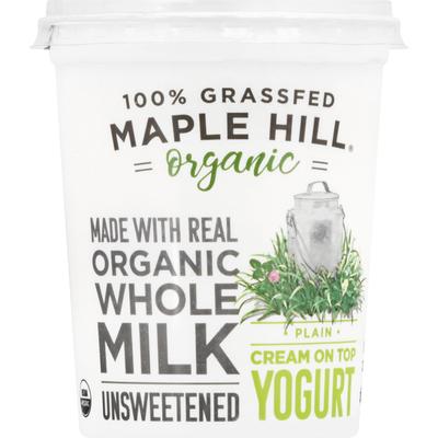 Maple Hill Creamery 100% Grass-Fed Cows Whole Milk Yogurt Plain