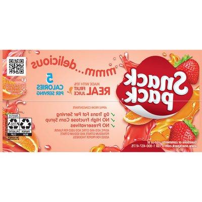 Snack Pack Sugar Free Gel Strawberry And Orange