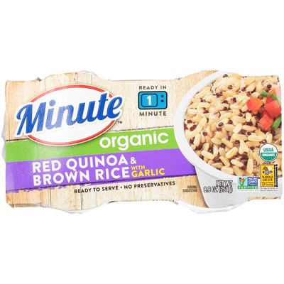 Minute Rice Organic Red Quinoa & Brown Rice with Garlic