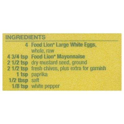 Food Lion Eggs, Fresh, White, Large, Carton