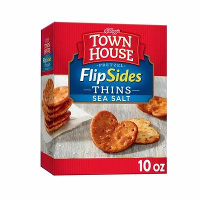 Kellogg's Town House Pretzel Flipsides Crackers, Baked Snack Crackers, Sea Salt