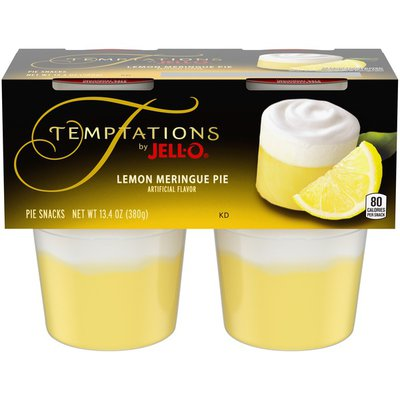 Jell-O Lemon Meringue Ready-to-Eat Pie Snacks