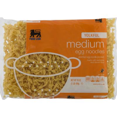 Food Lion Egg Noodles, Yolkful, Medium, Bag