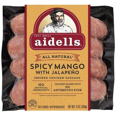 Aidells Smoked Chicken Sausage, Spicy Mango With Jalapeño