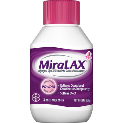 MiraLAX Laxative, Osmotic, Unflavored, Powder