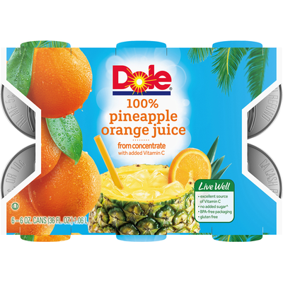 Dole 100% Juice, Pineapple Orange
