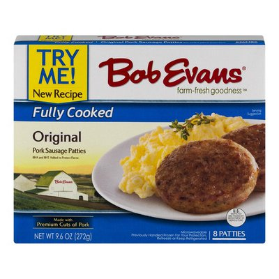 Bob Evans Fully Cooked Original Pork Sausage Patties
