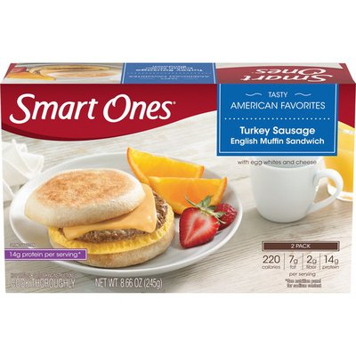Smart Ones Turkey Sausage English Muffin Sandwiches