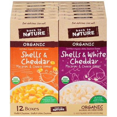 Back to Nature Organic Macaroni & Cheese Dinner Variety Pack