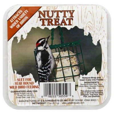 C & S Products Suet, Nutty Treat