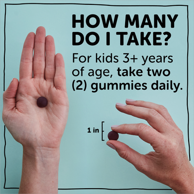 SmartyPants Kids Probiotic Immunity Formula Daily Gummy Vitamins: Probiotics & Prebiotics Boosting Immunity & Digestive Support, Vegan, 4 bil CFU, Grape (30 Day Supply)