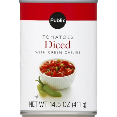 Publix Tomatoes, Diced, with Green Chilies