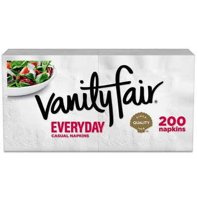 Vanity Fair Everyday Napkins, 200 2-Ply Paper Napkins