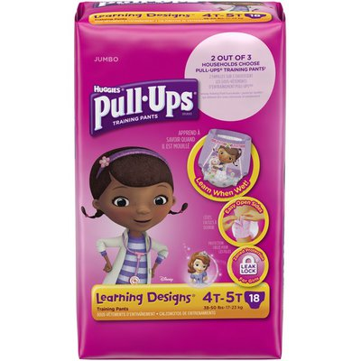 Pull-Ups Learning Designs for Girls 4T-5T Training Pants