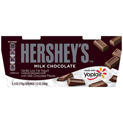 Yoplait Vanilla with Hershey's Milk Chocolate Pieces Low Fat Yogurt