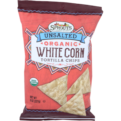 Sprouts Organic Unsalted White Corn Chips