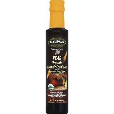 Fratelli Mantova Condiment, Balsamic, Organic, Pear