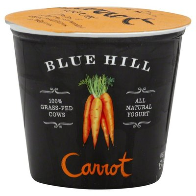 Blue Hill Bay Yogurt, 100% Grass-Fed Cows, Carrot, All Natural, Cup