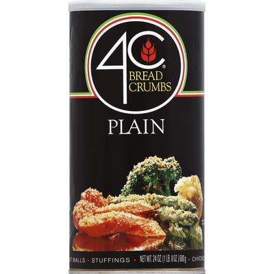 4C Foods Bread Crumbs, Plain