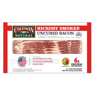 Coleman Uncured Hickory Smoked Bacon x packages