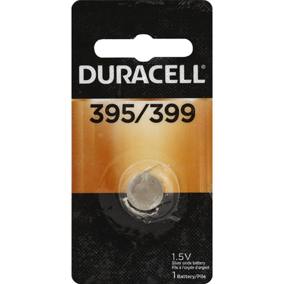 Duracell Battery, Silver Oxide, 395/399