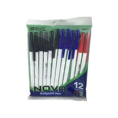 Bazic Assorted Color Stick Pens