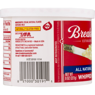 Breakstone's Unsalted Whipped Butter