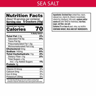 Kellogg's Town House Pita Crackers, Baked Snack Crackers, Lunch Snacks, Sea Salt