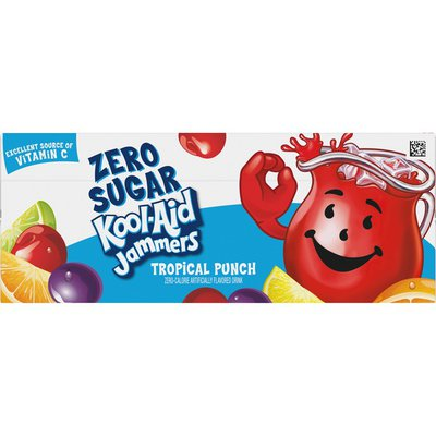 Kool-Aid Jammers Tropical Punch Zero Sugar Artificially Flavored Soft Drink