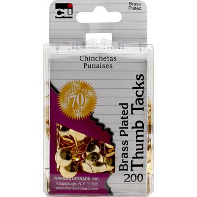 CLi Thumb Tacks, Brass Plated