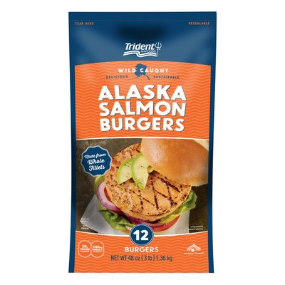 Trident Seafoods Alaskan Salmon Burgers