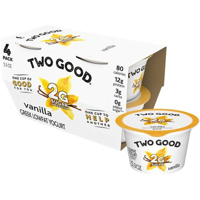 Two Good Lowfat Lower Sugar Vanilla Greek Yogurt