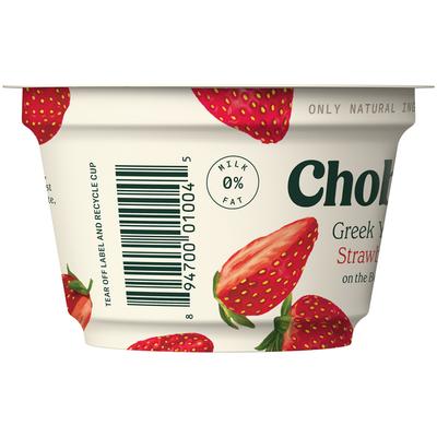 Chobani Strawberry on the Bottom Non-Fat Greek Yogurt