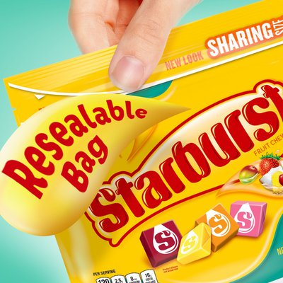 Starburst Tropical Chewy Candy Stand Up Pouch