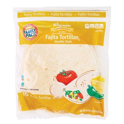 Wegmans Fajita Tortilla Gordita Style, FAMILY PACK
