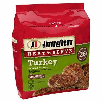 Jimmy Dean Heat 'N Serve Frozen Breakfast Turkey Sausage Patties