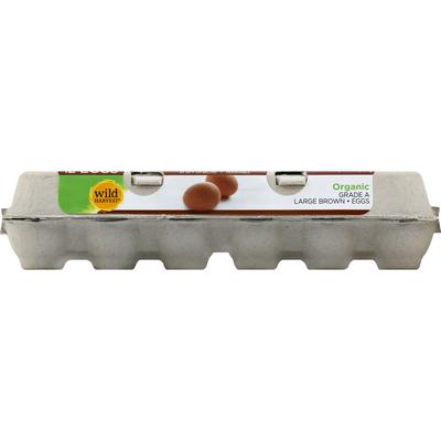 Wild Harvest Eggs, Organic, Brown, Large