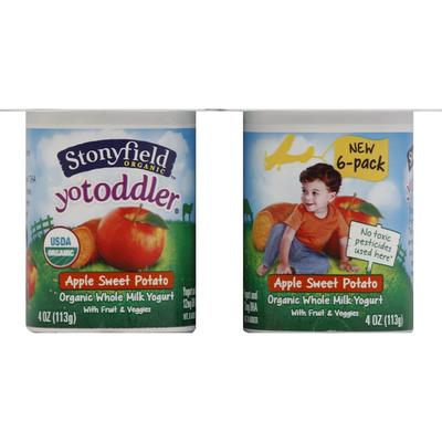 Stonyfield Organic Yogurt, Whole Milk, Apple Sweet Potato
