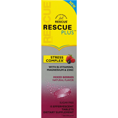 Rescue Stress Complex, Effervescent Tablets, Mixed Berries