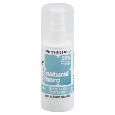 Natural Hero Sports Spray, Freeze + Ease
