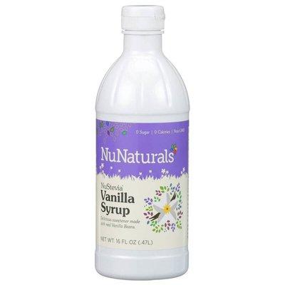 NuNaturals NuStevia Vanilla Syrup Real Vanilla Extract