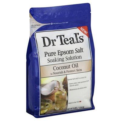 Dr. Teal's Soaking Solution, Pure Epsom Salt, Coconut Oil