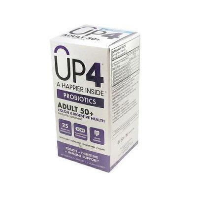 up4 Adult 50+ Colon + Digestive Health Probiotic Supplement Vegetarian Capsules