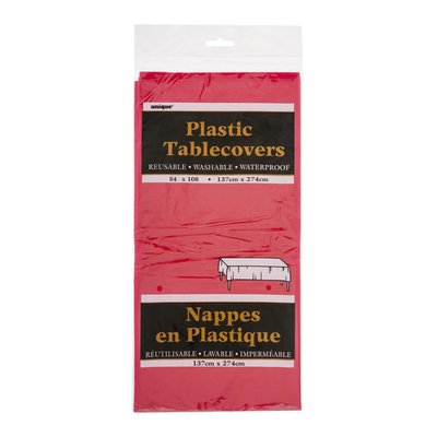 Unique Plastic Tablecovers Red