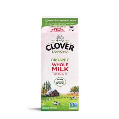 Clover Sonoma Organic UHT Whole Milk Half Gallon