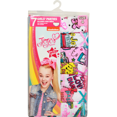 Nickelodeon Panties, Size 6, Jojo Siwa, Girl's