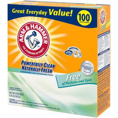 Arm & Hammer Powder Laundry Detergent, Free Of Perfume And Dyes, 100 Loads