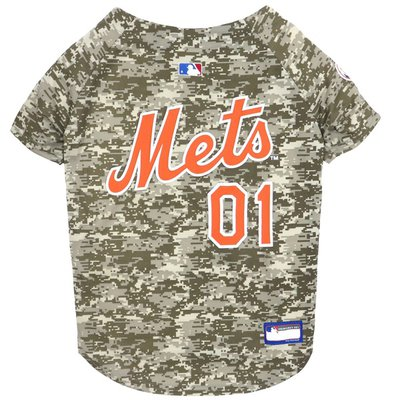 Pets First Small MLB New York Mets Camo Dog Jersey