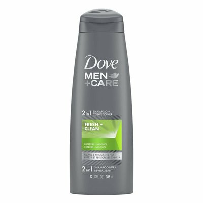 Dove 2 In 1 Shampoo And Conditioner Fresh And Clean With Caffeine