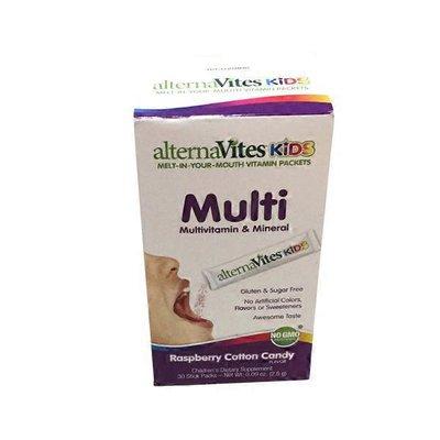 Alternavites Kids Quick Melting Multivitamin Crystals Raspberry Cotton Candy